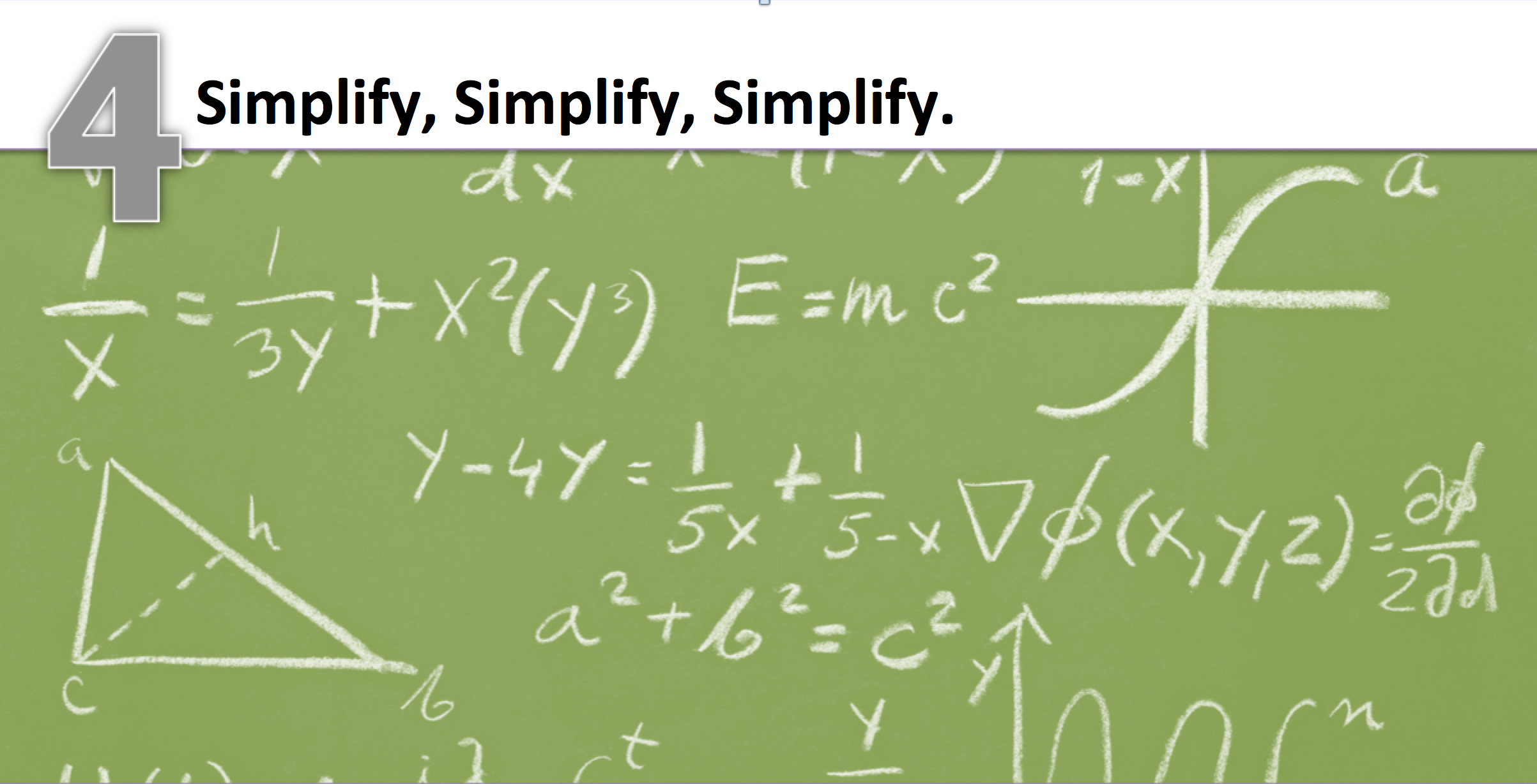 Simplify complicated slides in the presentation